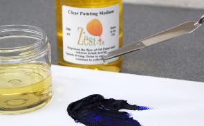clear painting medium