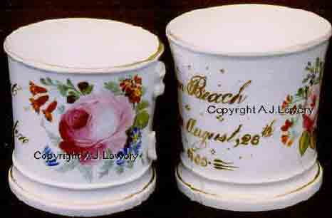 Hand decorated Celebration Mugs dated 1855