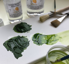 oil paint as thin as ink