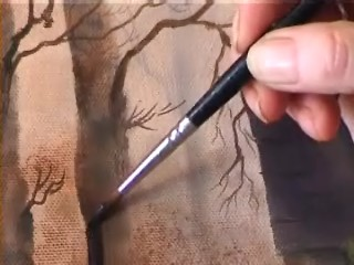 retouching varnish on a painting
