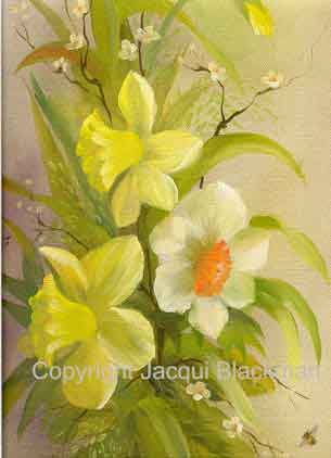 flower painting with oils