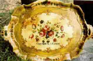 tole tray late 1700